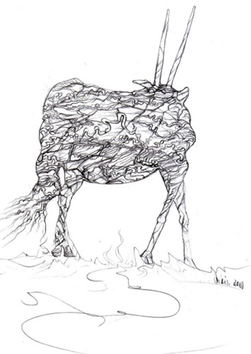 mutant-wie-ein-gnu-drawing-by-arkis