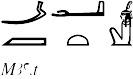 maat-hieroglyphen