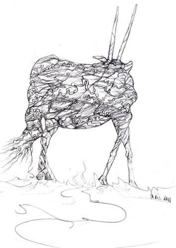 mutant-wie-ein-gnu-drawing-by-arkis
