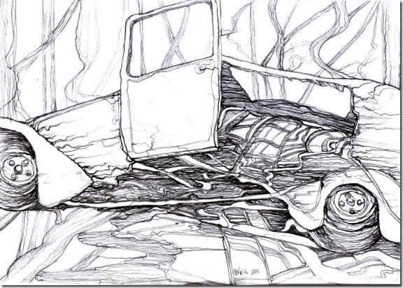 autofriedhof-drawing-by-arkis